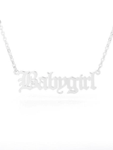 Babygirl Old English Necklace