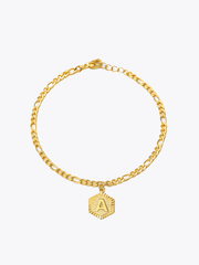 Hexagon Charm Anklet
