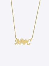Script Initials Necklace
