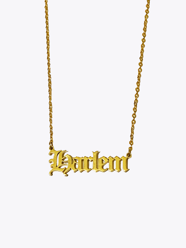Old English Nameplate Necklace