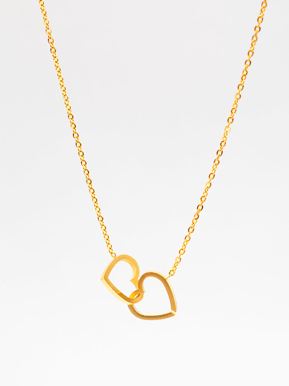 Simple Double Heart Necklace