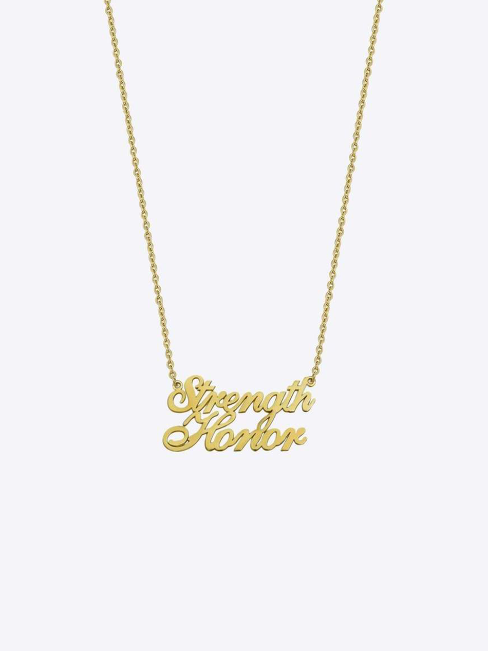 Script Stack Name Necklace