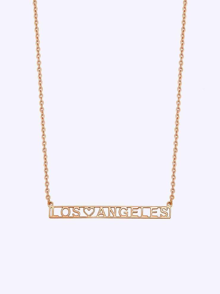 Heart Bar Nameplate Necklace