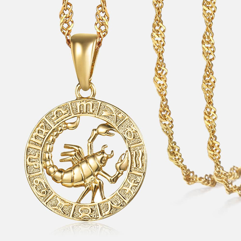 Zodiac Sign Pendant Necklaces