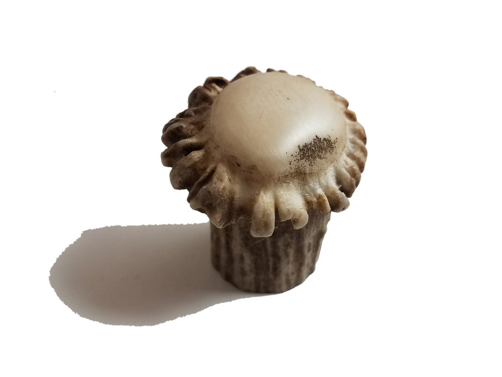 Enhanced Deer Crown/Burr Pull Knob by Antler Artisans