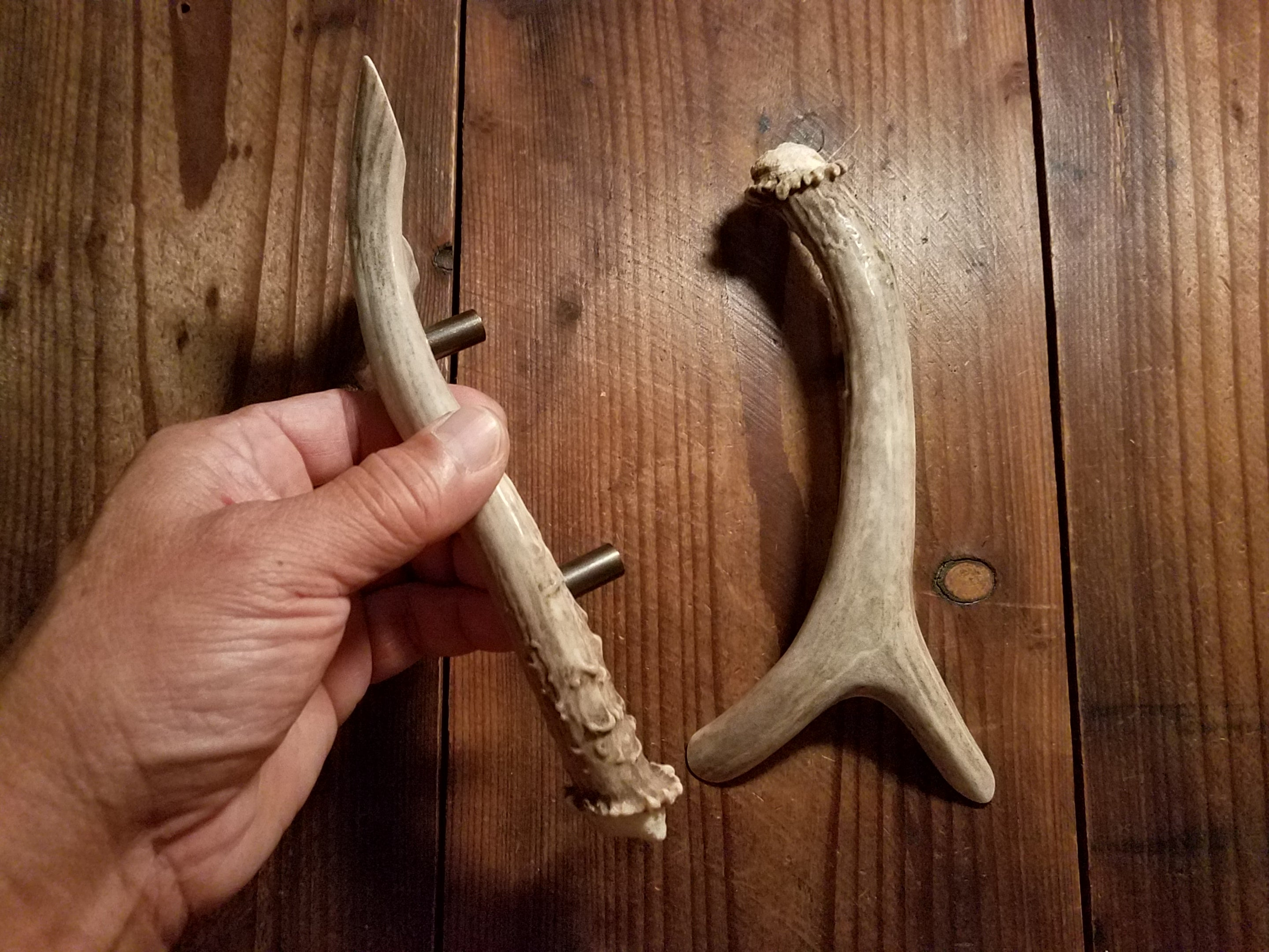 "Forked Antler Handles 3"" on center by Antler Artisans"