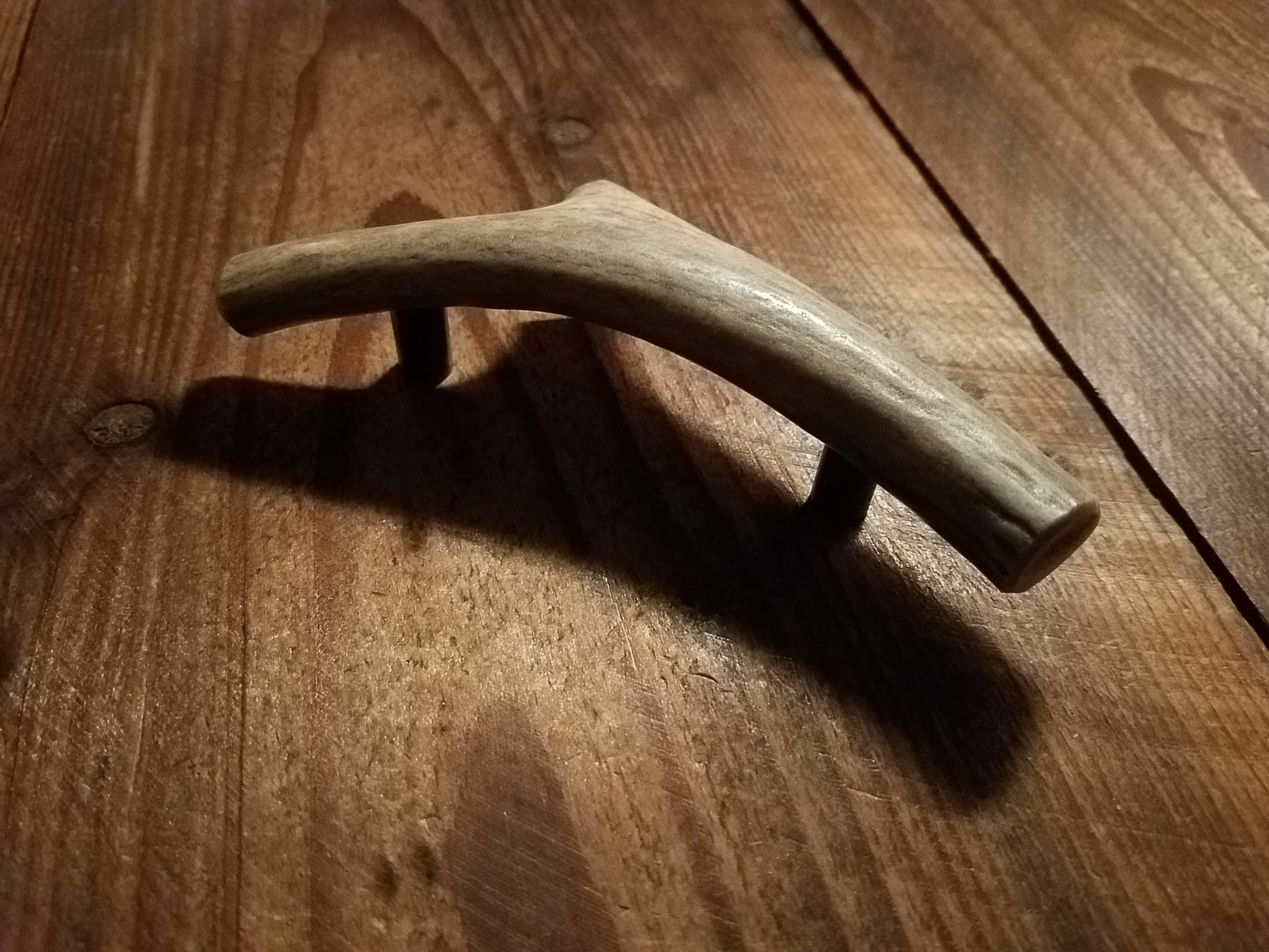 Antler single branch cabinet hardware by Antler Artisans