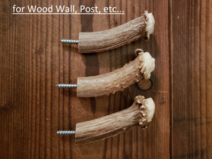 Antler Crown Wall Hooks for Wood