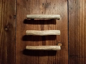 Deer antler drawer pull variations by Antler Artisans