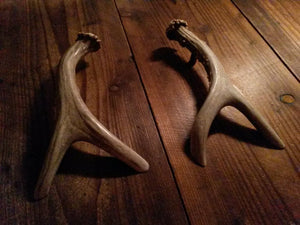 Matched Similar Pair of Forked Handles by Antler Artisans