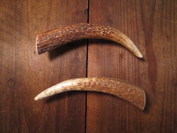 Elk brow tine handle variations by Antler Artisans