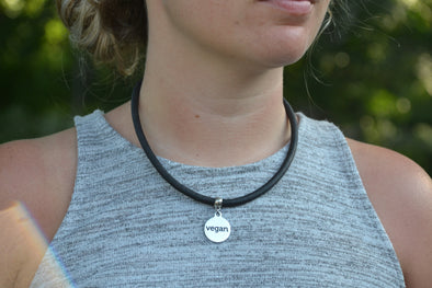 Vegan Black Cork Necklace Choker ~ Vegan Activist