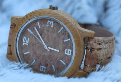 Cork Watch with Bamboo