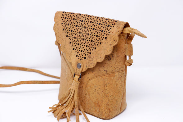 Cork Purse with Tassel