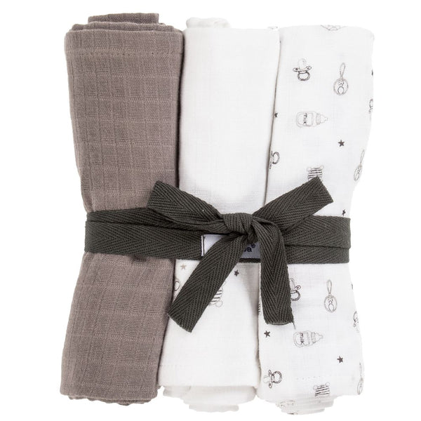 Absorba Neutral Cotton Muslins 3 Pack