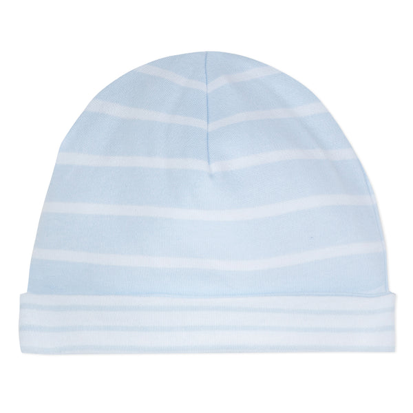 Absorba Baby Boys White & Blue Reversible Hat