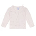 Absorba Baby Girls Pink Cotton Cardigan with Swarovski Crystals
