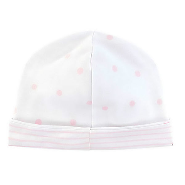 Absorba Baby Girls White & Pink Reversible Hat