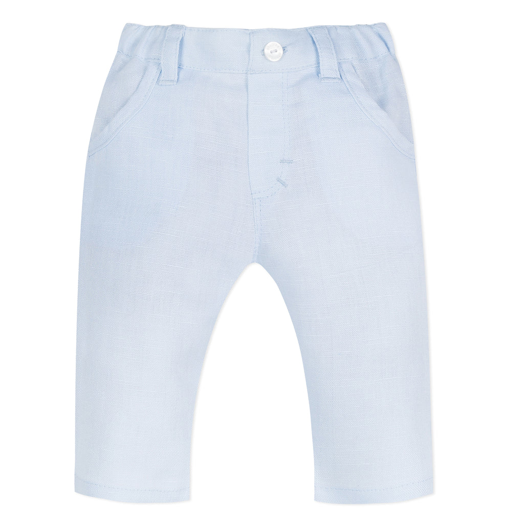Absorba Boys Blue Linen Trousers