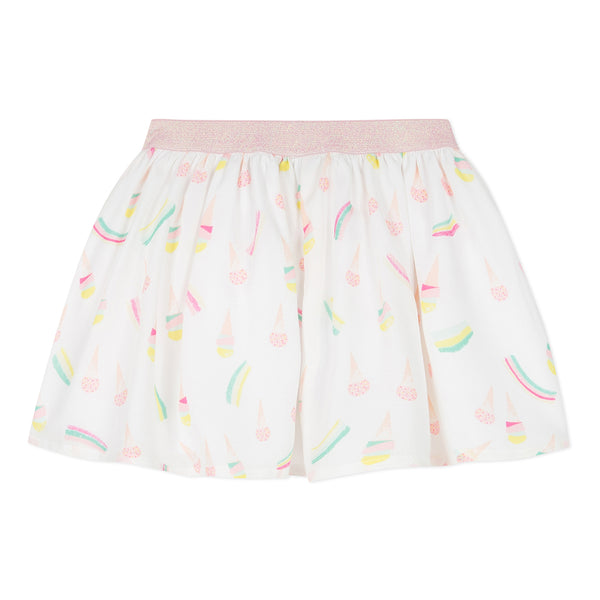 Absorba Girls White Ice Cream Print Skirt