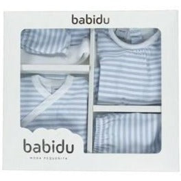 Babidu Blue Striped Newborn Gift Box