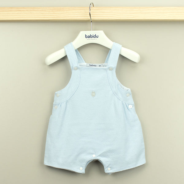 Babidu Baby Boys Blue Cotton Waffle Shortie