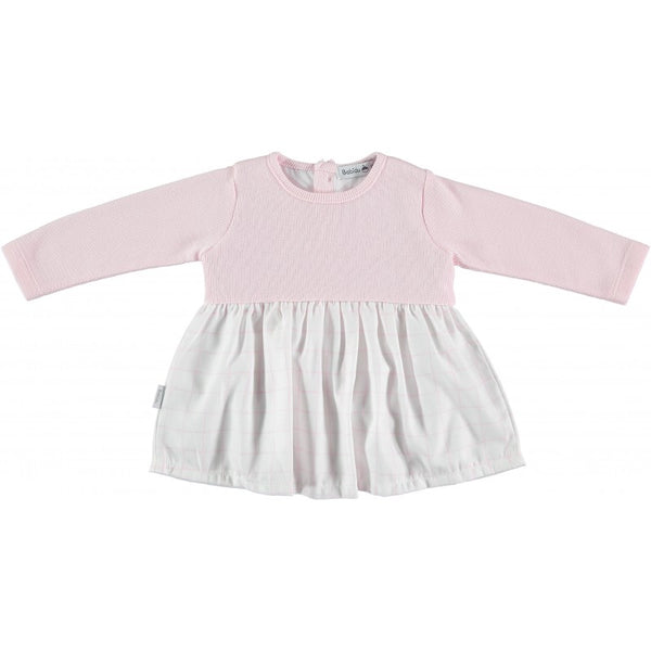 Babidu Baby Girls Pink Cotton Check Dress