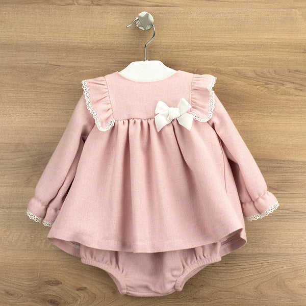 Babidu Baby Girls Dusky Pink Dress Set