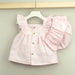 Babidu Baby Girls Pink Cotton Dress Set