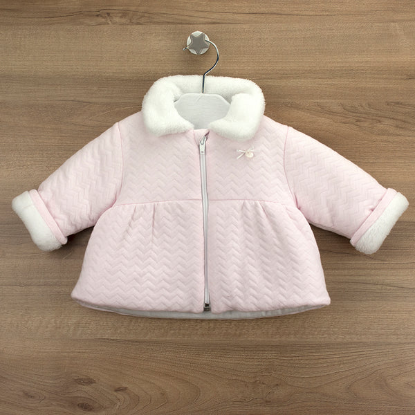 Babidu Girls Pink Quilted Coat