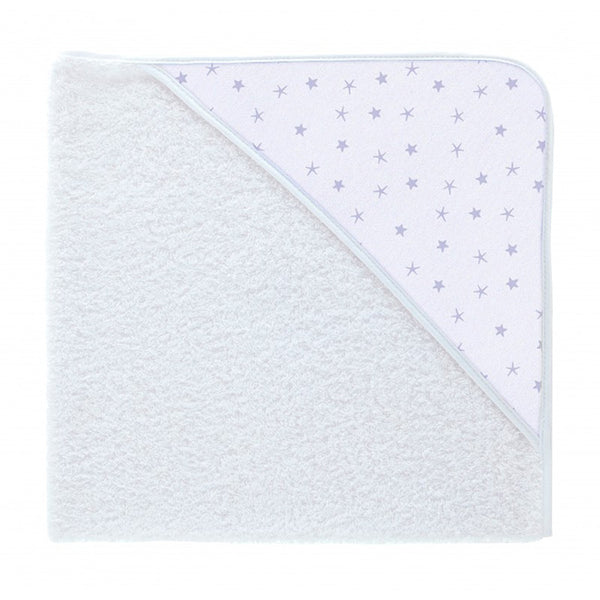 Babidu Blue Mini Star Print Hooded Towel
