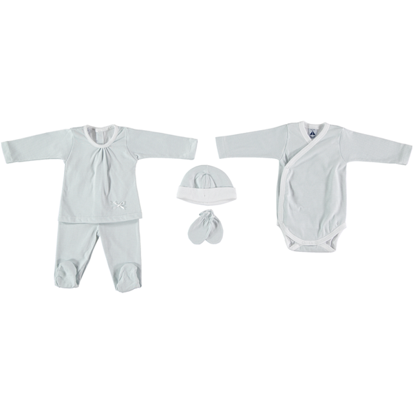 Babidu Blue Stripe Newborn Gift Set