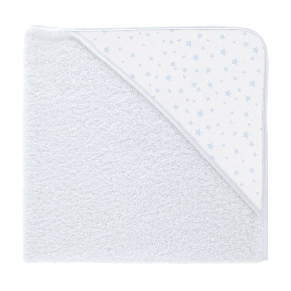 Babidu Blue Twinkle Print Hooded Towel