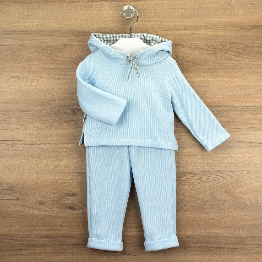 Babidu Boys Blue Two Piece Hooded Tracksuit