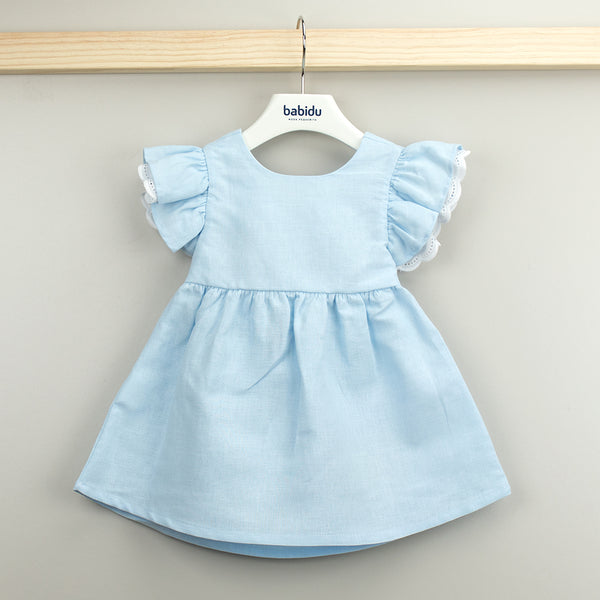 Babidu Girls Blue Ruffle Dress