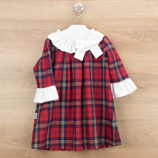 Babidu Girls Red Tartan Dress
