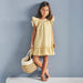 Babidu Girls Yellow & White Check Dress