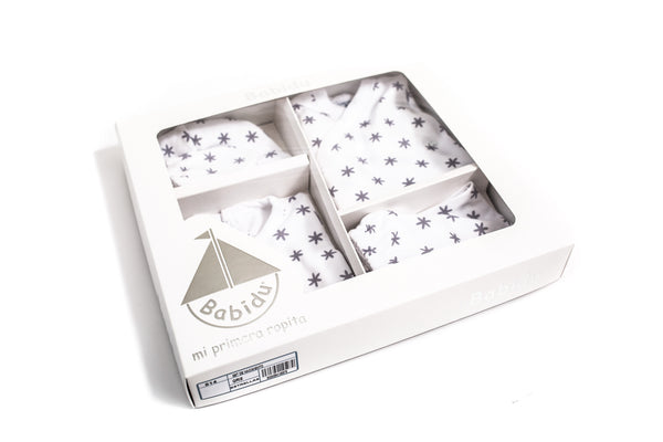 Babidu Grey Newborn Gift Set Box