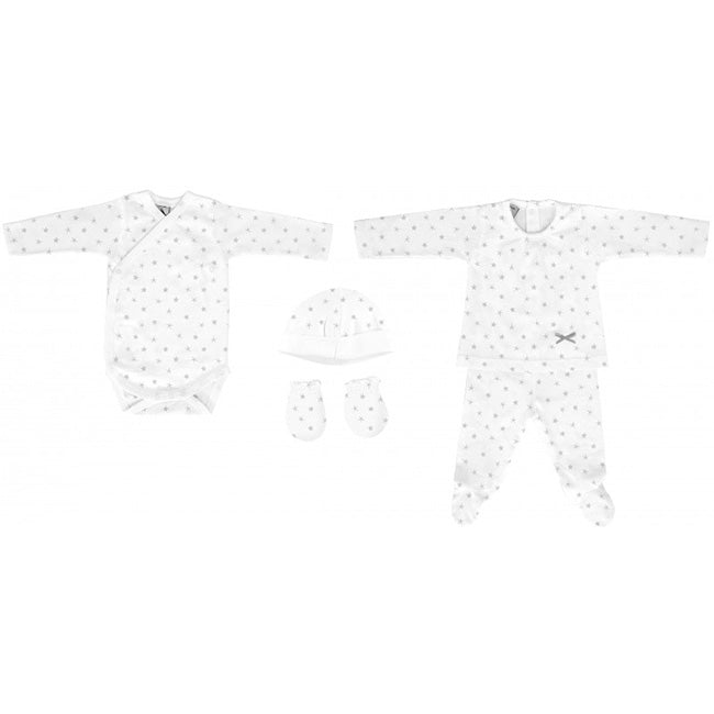 Babidu Grey Mini Star Newborn Gift Set (5 piece)