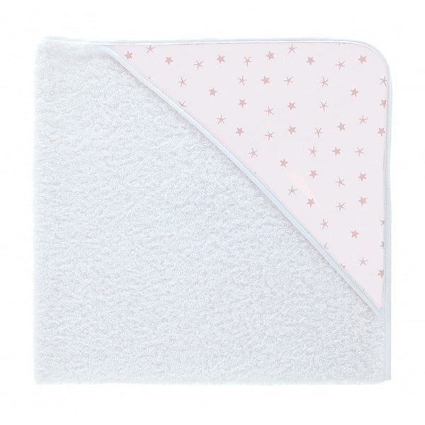Babidu Pink Mini Star Print Hooded Towel