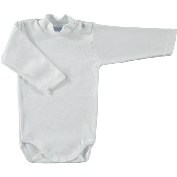 Babidu White Polo Neck Bodysuit