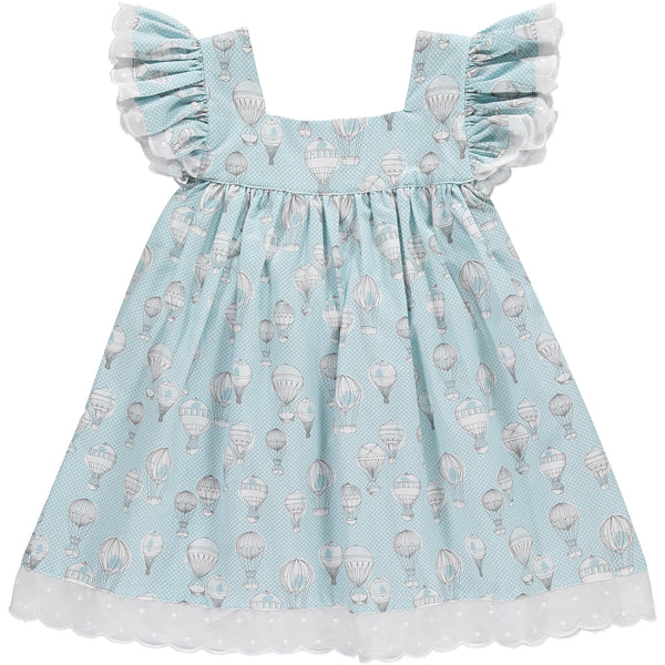 Benedita Blue Hot Air Balloon Dress