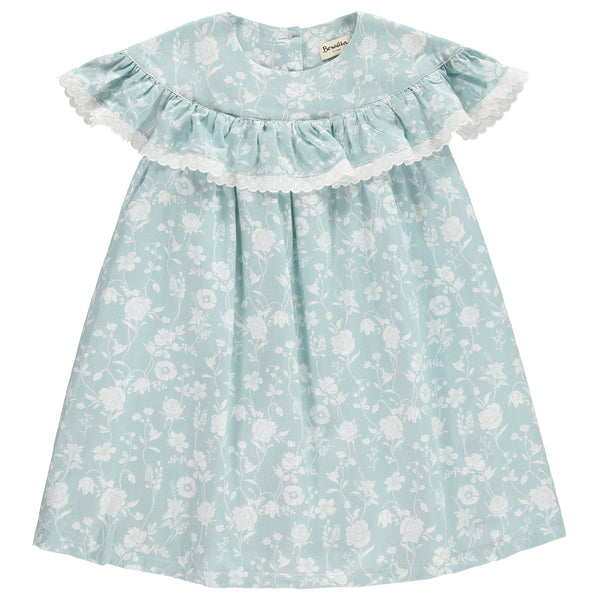 Benedita Girls Blue Floral Dress | Lucas & Luna