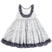 Benedita Girls Navy Frill Dress