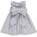 Benedita Grey Spot Dress Back