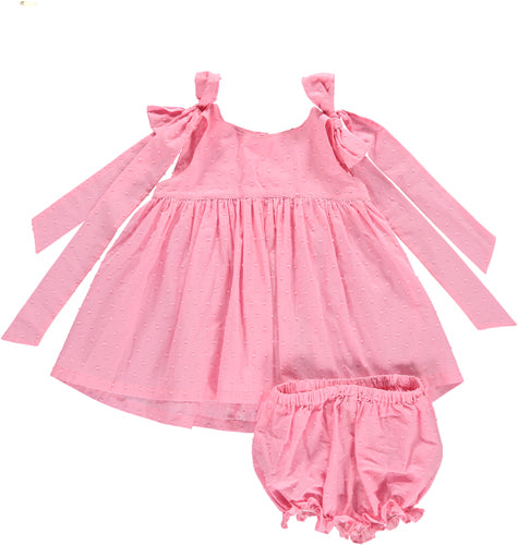 Benedita Pink Plumetti Dress Set