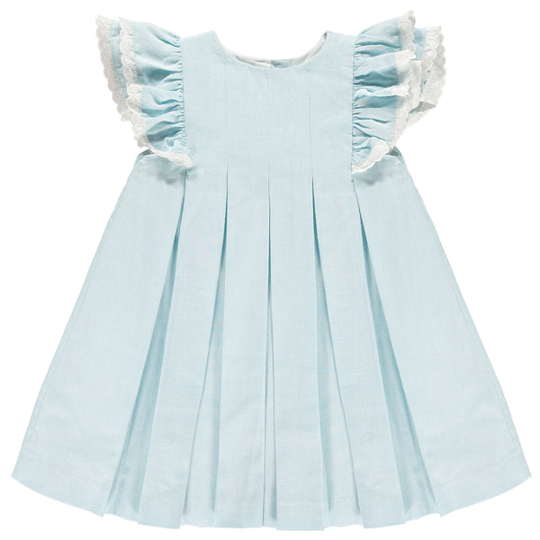 Benedita Girls Sky Blue Ruffle Dress