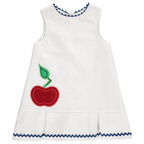 Benedita Girls White Apple Dress | Lucas & Luna