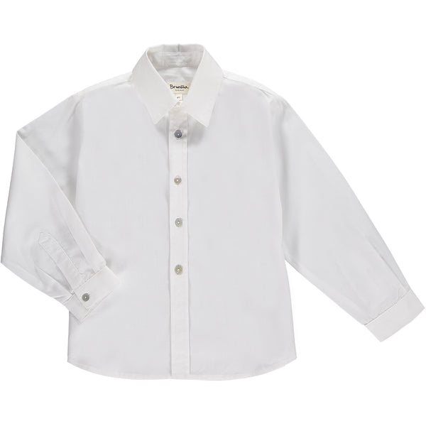 Benedita Boys White Linen Shirt