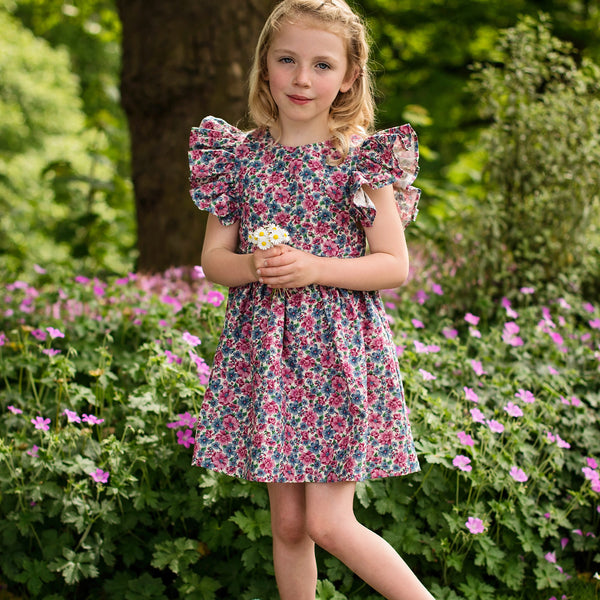 Benedita Girls Wild Flowers Dress